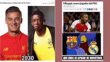 Barcelona, Mbappe y Dembelé en la mira de los memes del mercado de fichajes