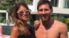 Messi presumió su estado físico en ropa de baño junto a Antonela Roccuzzo