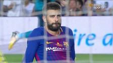 Gerard Piqué cometió un autogol al desviar un centro de Marcelo