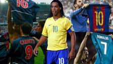 El día que Ronaldinho inventó el festejo de enseñar la camiseta