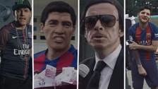 Messi y Suárez se despiden de Neymar en una divertida parodia