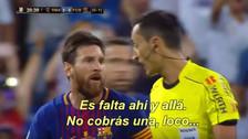 YouTube | Messi encaró a árbitro en derrota de Barcelona: