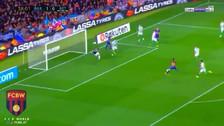 El golazo de Sergi Roberto tras una gran asistencia de Deulofeu