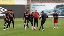 Alberto Rodríguez muestra recuperación en el segundo entrenamiento de Perú