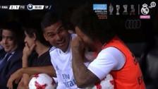 La reacción de Casemiro y Marcelo tras el golazo de Cristiano Ronaldo