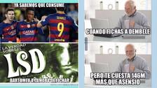Los memes que dejó el fichaje de Ousmane Dembélé a Barcelona