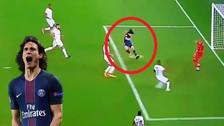 YouTube   El golazo de taco de Edinson Cavani en el triunfo de PSG