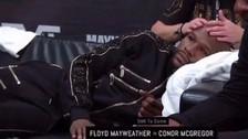 El extraño masaje que recibió Mayweather antes de su pelea con McGregor