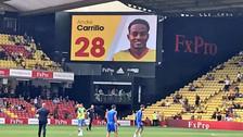 André Carrillo fue ovacionado por los hinchas del Watford