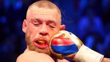 Así quedó la cara de McGregor  tras soportar los golpes de Mayweather
