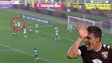 YouTube   Andrea Belotti anotó golazo de 'chalaca' en la Liga Italiana