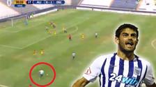 Alianza Lima: Aguiar casi anota un golazo de tiro libre, pero el palo se lo negó