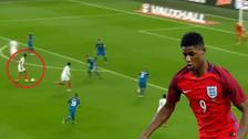 Rashford anotó un golazo para Inglaterra con un disparo desde fuera del área