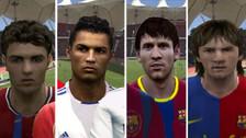 La evolución de Cristiano Ronaldo y Lionel Messi en FIFA y PES