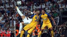 Sergio Ramos anotó un golazo de 'chalaca' para el Real Madrid