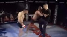 YouTube | Peleador de MMA atacó a juez por no detener el combate a tiempo