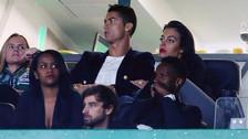 Cristiano Ronaldo presenció junto a su novia el triunfo del Sporting de Lisboa