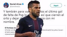 La dura respuesta de Alves contra Forlán tras el problema entre Neymar y Cavani