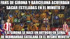 Los memes que generó el triunfo del Barcelona en su visita al Girona