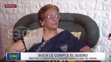 Boca Juniors le cumplió sueño a abuelita de 101 años