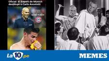 James Rodríguez en la mira de los memes tras la salida de Ancelotti de Bayern