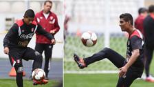 Edison Flores y Paolo Hurtado realizaron un último entrenamiento en la Videna