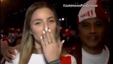 La novia de Paolo Guerrero lució la blanquirroja y celebró el pase a repechaje