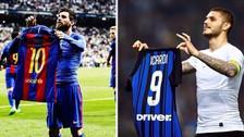 Icardi se lució con un hat trick ante el Milan y celebró como Lionel Messi