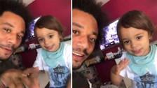 Puro talento: Marcelo y su hijo sorprendieron haciendo 'beatbox'
