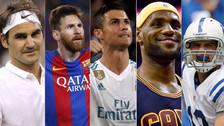Cristiano Ronaldo lidera el 'top ten' de los deportistas mejores pagados