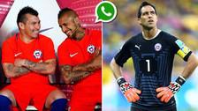 Jugadores de la Selección de Chile excluyen a Bravo de grupo de Whatsapp
