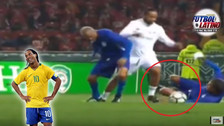 YouTube | Ronaldinho y su show en amistoso: huacha y 'pase del desprecio'