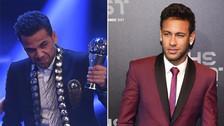 Neymar y Dani Alves sorprendieron con su look en The Best