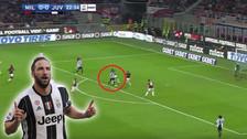 ¡Gol histórico! La gran definición de Gonzalo Higuaín en el Juventus vs. Milan