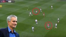 YouTube | Manchester United ganó a Tottenham con un gol de tres toques