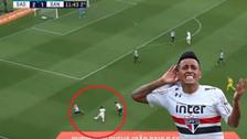 YouTube | Christian Cueva y su último lujo: eludió a dos rivales ante Santos