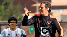 Fotos | Pedro Troglio saludó a Diego Maradona por su cumpleaños