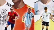 Se filtraron las camisetas de Argentina, Alemania y España para el Mundial