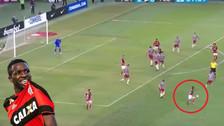 Vinicius en el empate de Flamengo: autopase y una 'huacha' ante Fluminense