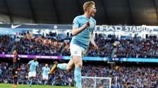 Kevin De Bruyne anotó un golazo en la victoria del Manchester City