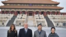 China recibió a Donald Trump en la Ciudad Prohibida de Pekín