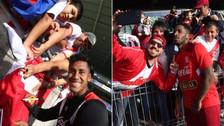 Jugadores de la Selección Peruana firmaron autógrafos a hinchas en Auckland