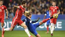 En el Francia - Gales: Antoine Griezmann marcó golazo de tijera