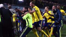 La alocada celebración de Suecia tras clasificar a Rusia 2018