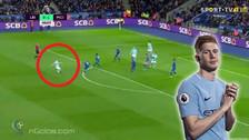 YouTube | De Bruyne marcó gol de larga distancia ante Leicester