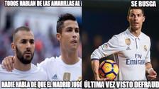 Cristiano Ronaldo en la mira de los memes tras el empate de Real Madrid