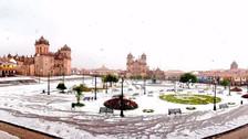Fotos | Un manto blanco cubrió el centro del Cusco tras una inusual granizada