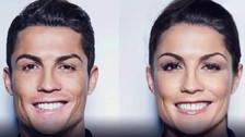 Así lucirían los futbolistas si fueran mujeres