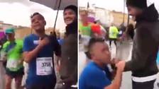 Corredor abandonó maratón para abrazar a Mauro Icardi