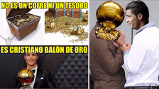 Cristiano Ronaldo es protagonista de los memes tras ganar el Balón de Oro